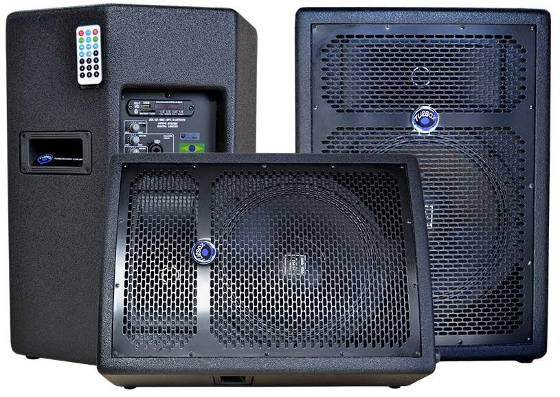 Caixa Ativa Turbox TBA1500 JBL 250W RMS Bluetooth/USB/SD/FM