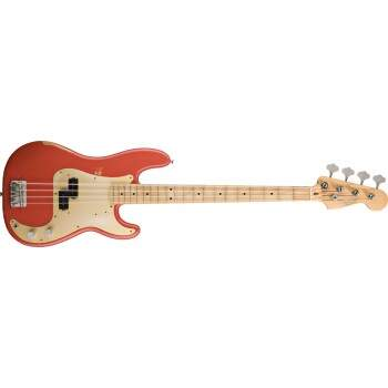 BAIXO FENDER 013 1712 ROAD WORN 50 PRECISION BASS FIESTA RED