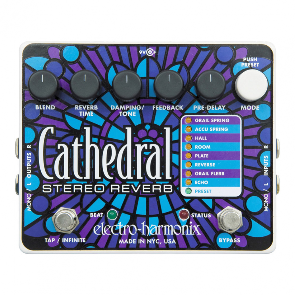 PEDAL ELECTRO-HARMONIX CATHEDRAL STEREO REVERB - CATH