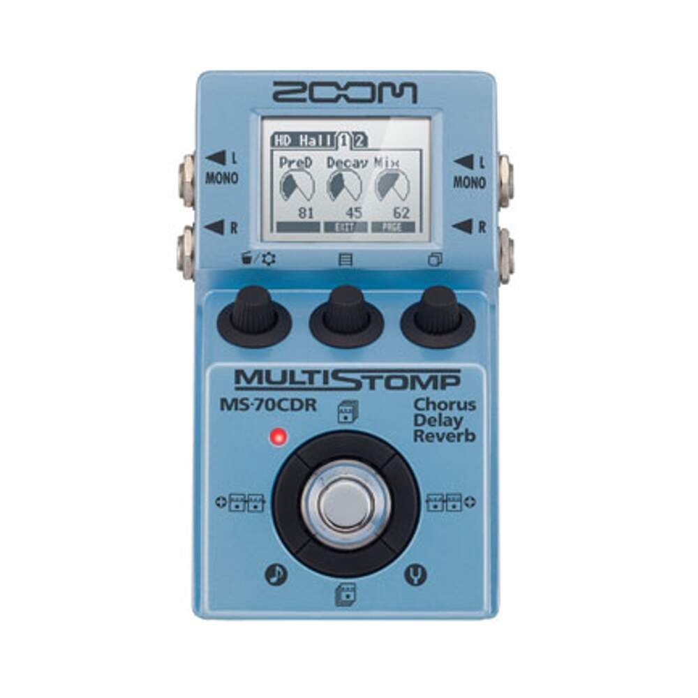 Pedal Guitarra Zoom MS 70CDR