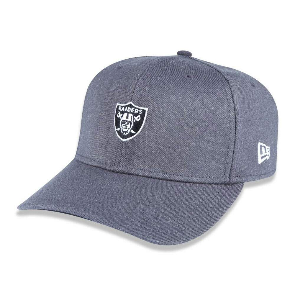 Boné New Era 39Thirty Fechado Raiders Cinza