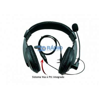 Fone Ptt HeadSet Vox Para Baofeng Kenwood Elite 2pin