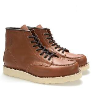 BOTA BLACK BOOTS MOC TOE WC LATEGO ORANGE