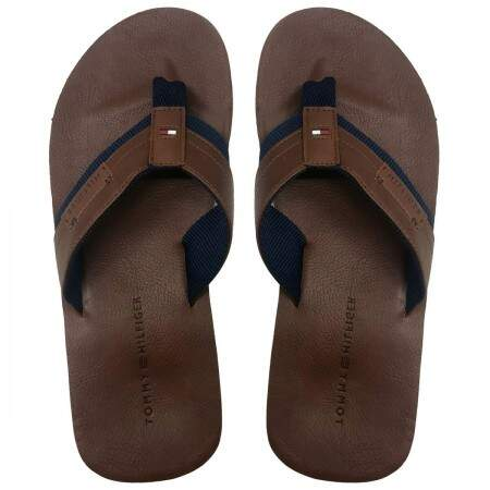 Chinelo Tommy Hilfiger em Couro
