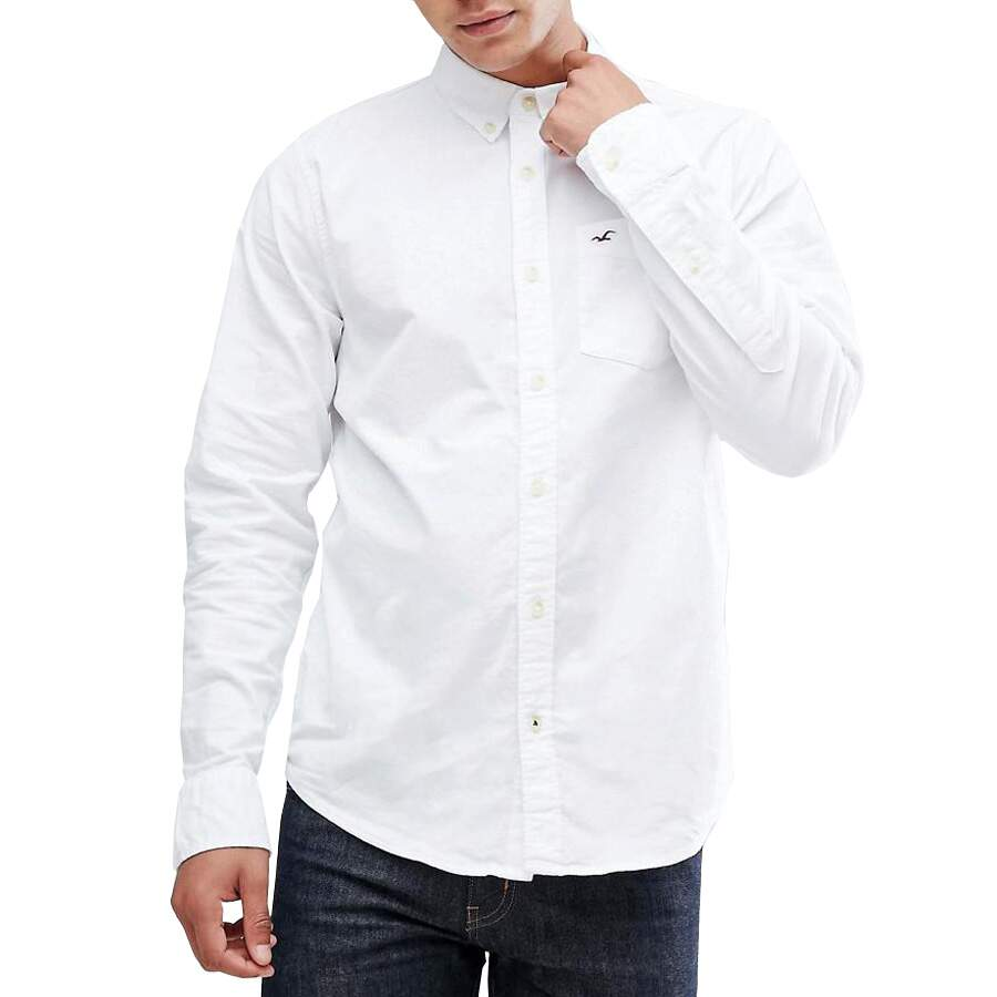 Camisa Oxford Hollister Masculina