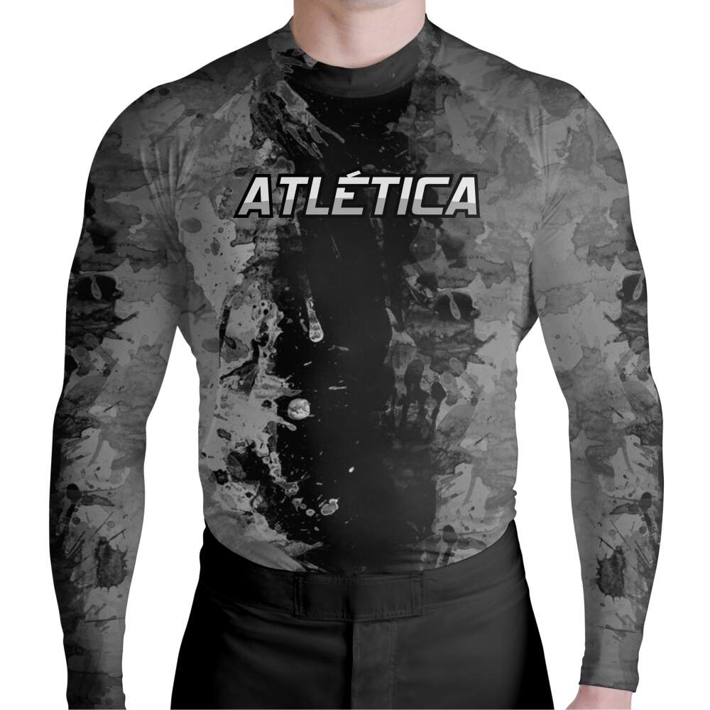 Rash Guard Gray Texture Atlética