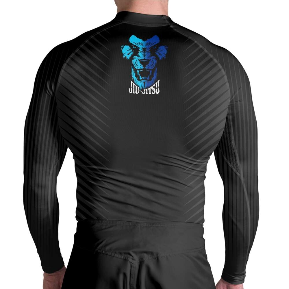 Rash Guard Lion Blue Atlética