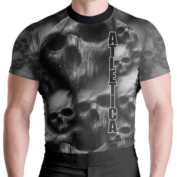 Rash Guard Skull Black MC Atlética Esportes