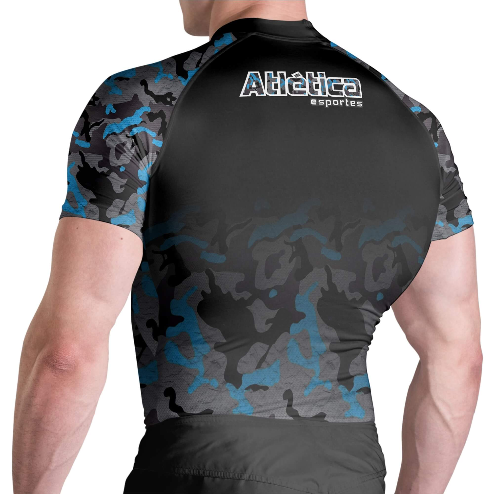 Rash Guard Camuflada Black MC Atlética Esportes