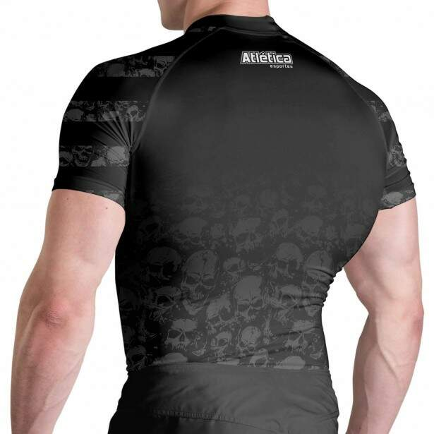 Rash Guard Black Skull MC Atlética Esportes