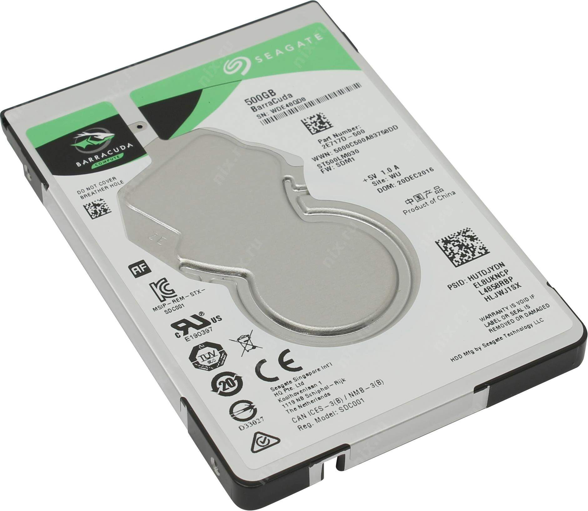 HD P/ NOTEBOOK SATA 500GB 5400 RPM SEAGATE
