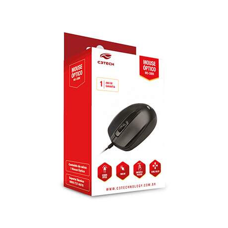 MOUSE OPTICO SCROLL USB MS-30BK PRETO C3TECH