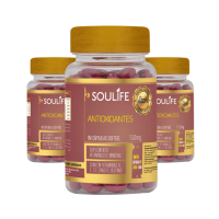 Kit 3 - Vitaminas Antioxidantes  150mg - 60 Cápsulas  - Soulife