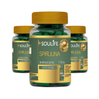 Kit 3 - Spirulina 1100mg - 60 Cápsulas - Soulife