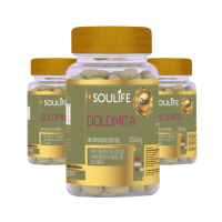 Kit 3 - Dolomita 850mg - 60 Cápsulas - Soulife