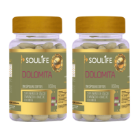 Kit 2 - Dolomita 850mg - 60 Cápsulas - Soulife