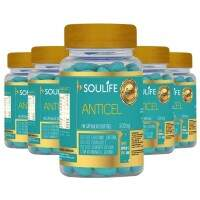 Anticelulite 500mg - 60 Cáps - Soulife - Combo 5 Unidades