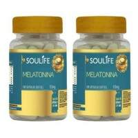 Melatonina 10mg - 60 cápsulas - Soulife - KIT 2 unidades