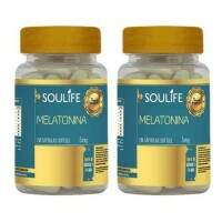 Melatonina 5mg - 60 cápsulas - Soulife - KIT 2 unidades