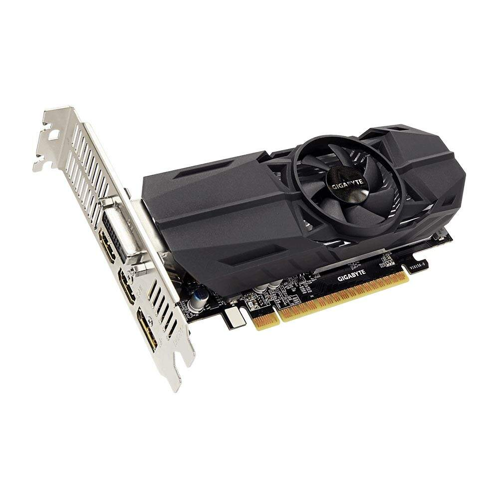 Placa de Vídeo VGA NVIDIA GIGABYTE GEFORCE GTX 1050 2GB OC Low Profile GDDR5 PCIE - GV-N1050OC-2GL