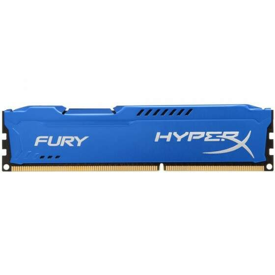 Memória Kingston HyperX FURY 8GB 1600Mhz DDR3 CL10 Blue Series - HX318CF10F/8