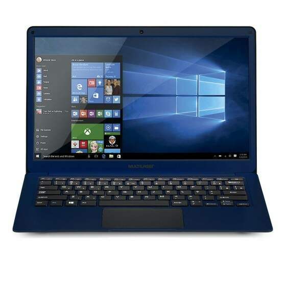 Notebook Multilaser Intel Dual Core N3350, RAM 4GB, HD 32GB, 13.3´, Windows 10, Azul - PC207