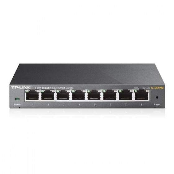 Switch Easy Smart Gigabit de 8 Portas - TL-SG108E