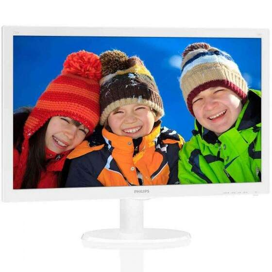 Monitor Philips LED 21.5´ Widescreen, Full HD, HDMI/VGA, Branco - 223V5LHSW