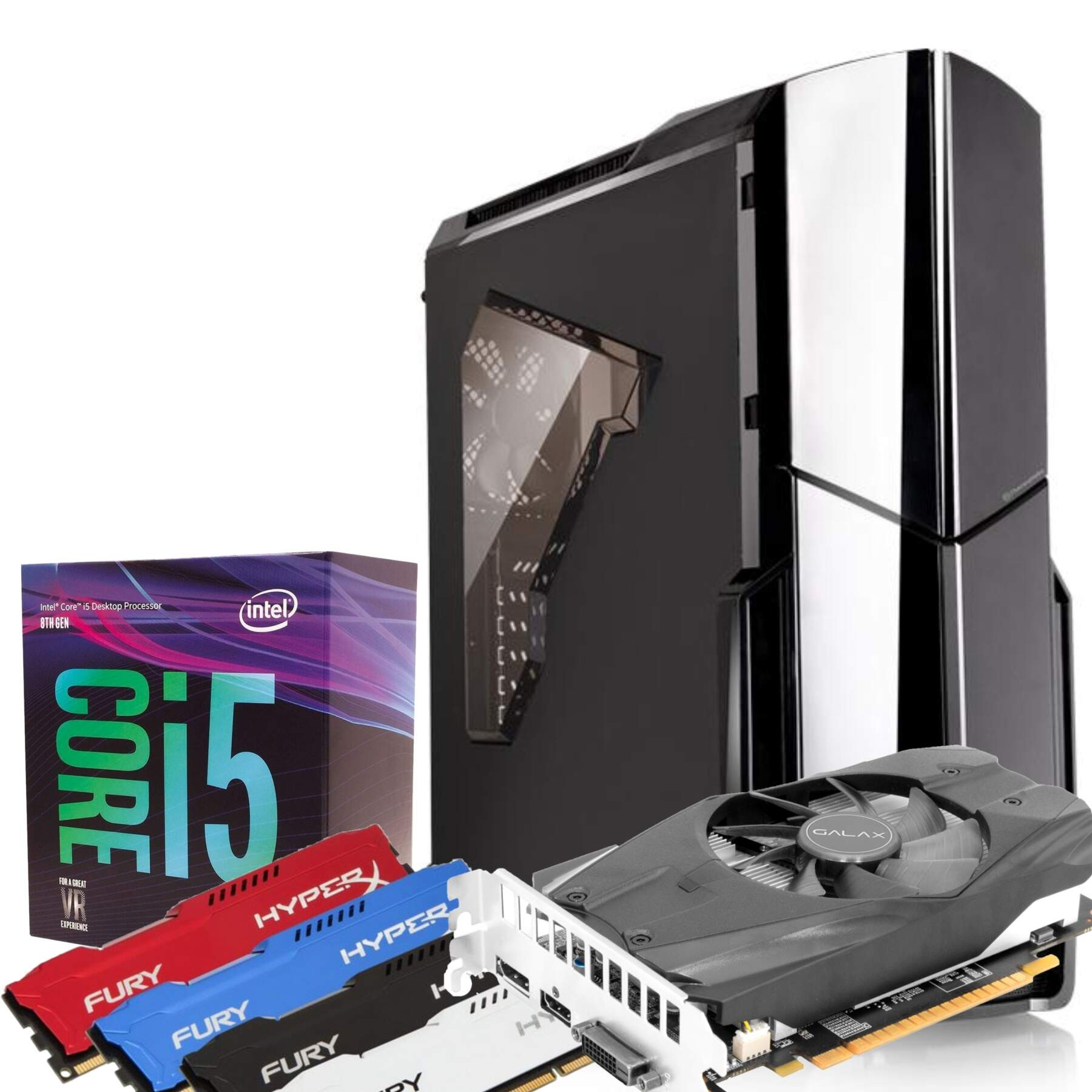 Computador Gamer Infohard Intel i5-8400, 8GB DDR4, 240GB SSD, 650W, GTX1050 TI 4GB, WaterCooler - 630628