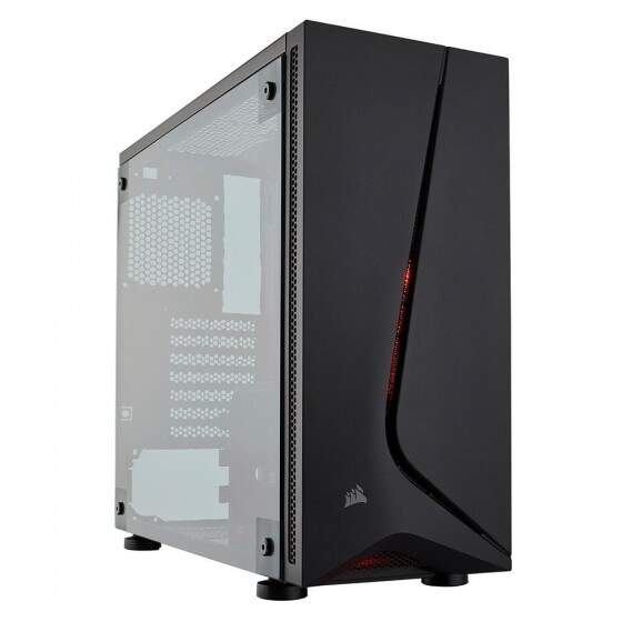 Gabinete Gamer Corsair Carbide SPEC-05 sem Fonte, Mid Tower, USB 3.0, 1 Fan LED Vermelho, Preto com Lateral em Acrílico - CC-9011138-WW