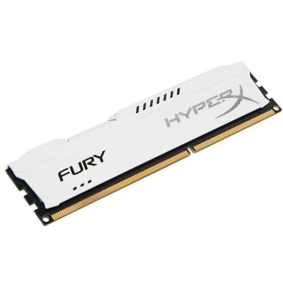 Memória Kingston HyperX FURY 8GB 1600Mhz DDR3 CL10 White - HX316C10FW/8