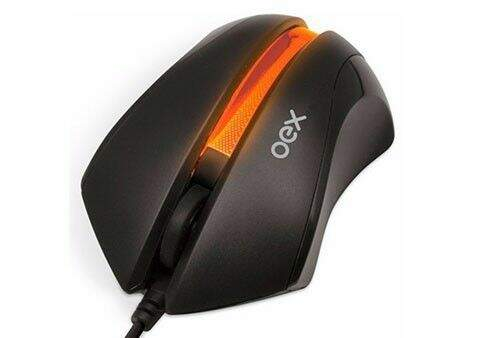 Mouse Oex Lighting 1000 DPI USB - MS-302 Laranja