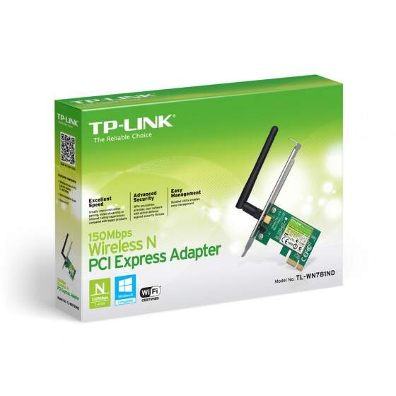 Adaptador PCI Express Wireless N150Mbps - TL-WN781ND