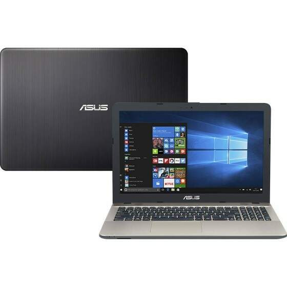 "Notebook Asus Vivobook Max X541NA-GO473T Intel Celeron Quad Core 4GB 500GB Tela LED 15,6"" Windows 10 - Preto"