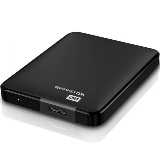 HD WD Externo Portátil Elements USB 3.0 1TB