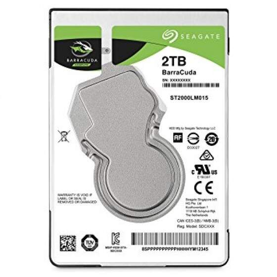 HD Notebook - 2.000GB (2TB) / 5.400RPM / SATA3 - Seagate BarraCuda
