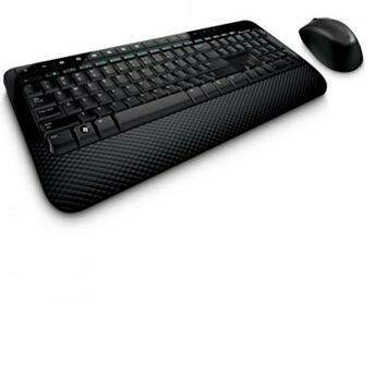 Kit Teclado e Mouse Microsoft Wireless Desktop 2000 Preto - M7J-00021