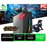 Computador Gamer Intel Core I3 9100f, 8gb DDR4, SSD 240gb, Fonte 500w, Geforce GT 1030 2gb