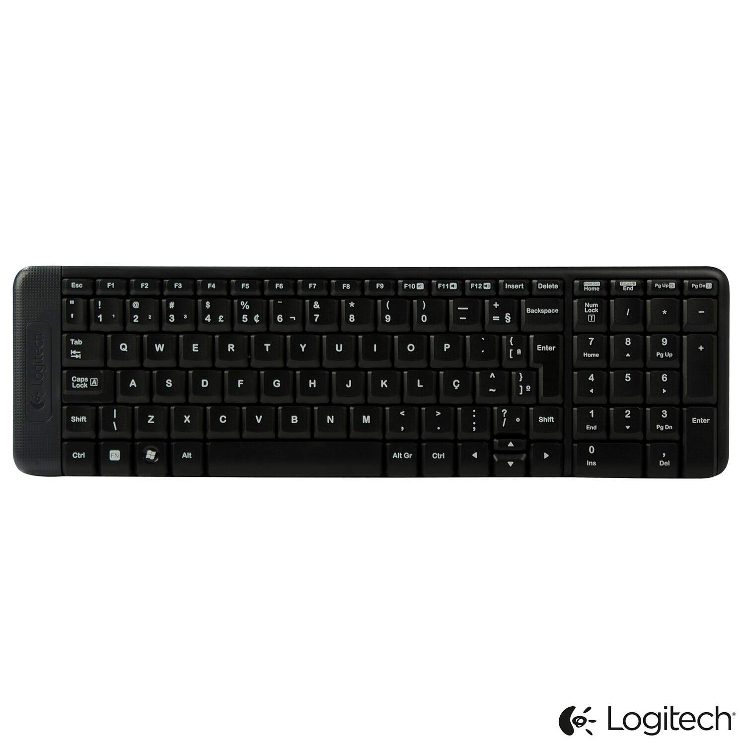 Teclado e Mouse Wireless Logitech Preto - MK220