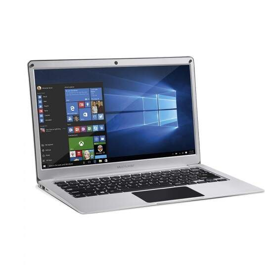 Notebook Legacy Air Intel Dual Core Windows 10 4GB Tela Full HD 13.3 Pol. Prata Multilaser