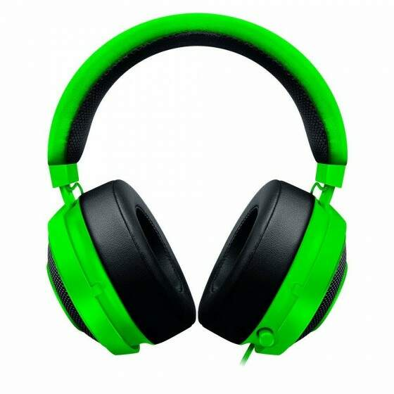 Headphone Gamer Razer Kraken Pro V2 Green Oval com Microfone - P2 - RZ.AU.ME.43.RT