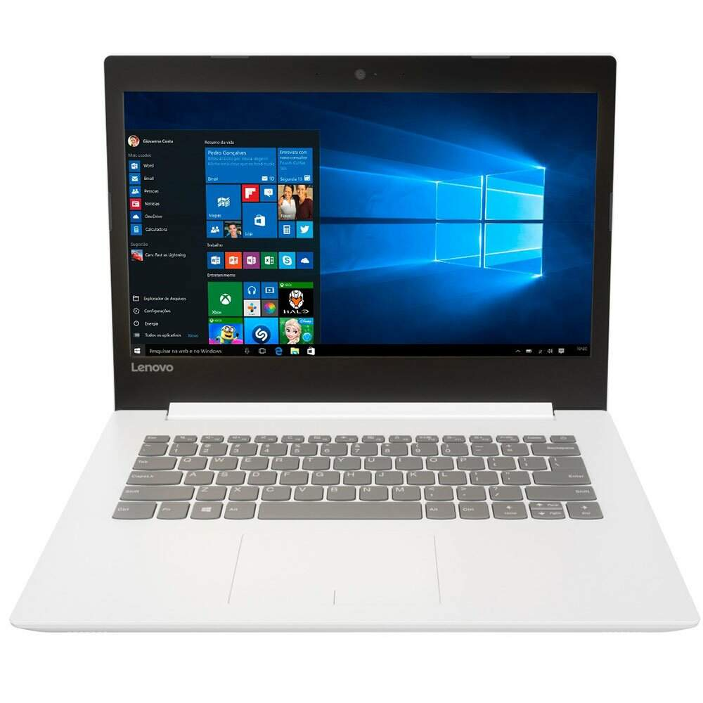 Notebook Lenovo 320-14IKB i3-6006U 4GB 500GB Windows 10 Branco - 80YF0008BR