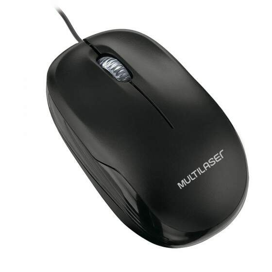 Mouse Box Optico com fio Preto Usb Multilaset - MO255