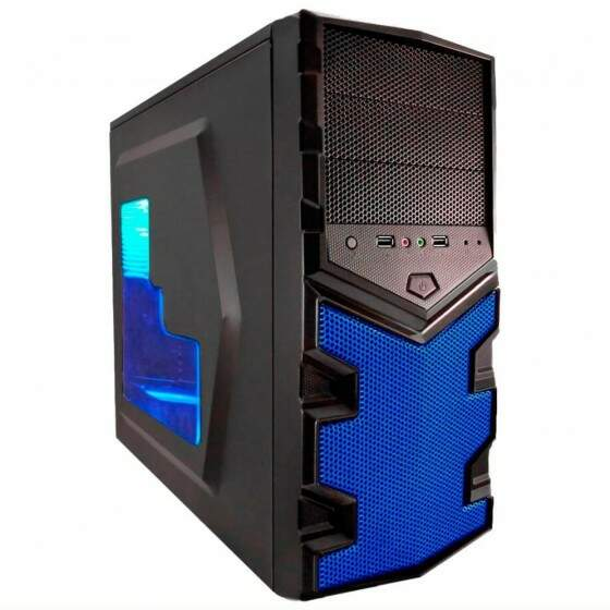 Gabinete G-Fire Home Tech Preto e Azul
