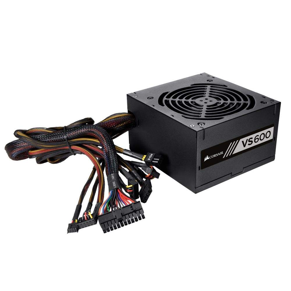 Fonte Corsair 600W 80 Plus White VS600 - CP-9020119