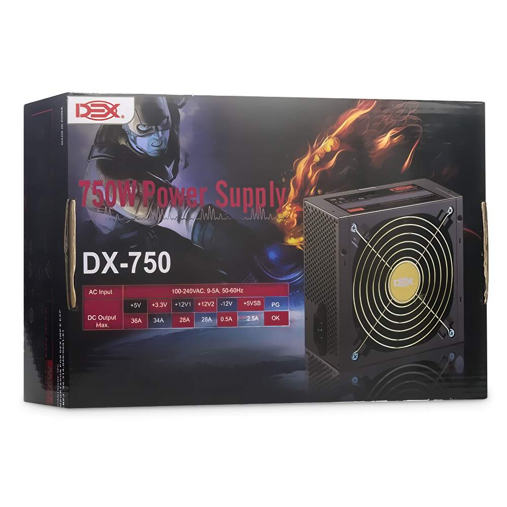 Fonte Atx 750w Power Supply Dex Dx-750