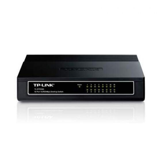 Switch 16 Portas TP-Link 10/100 Mbps - TL-SF1016D