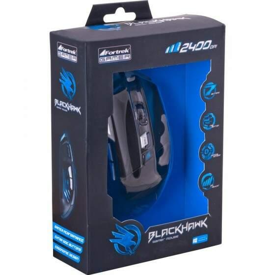 Mouse Game USB Fortrek Black Wawk - OM703