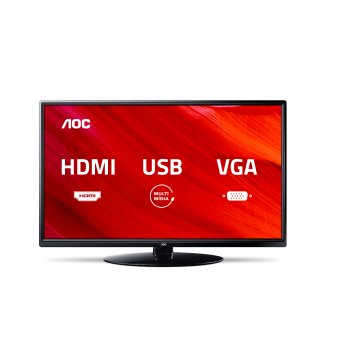 TV Monitor LED 24 AOC LE24M1475 - Conversor Digital 2 HDMI 1 USB