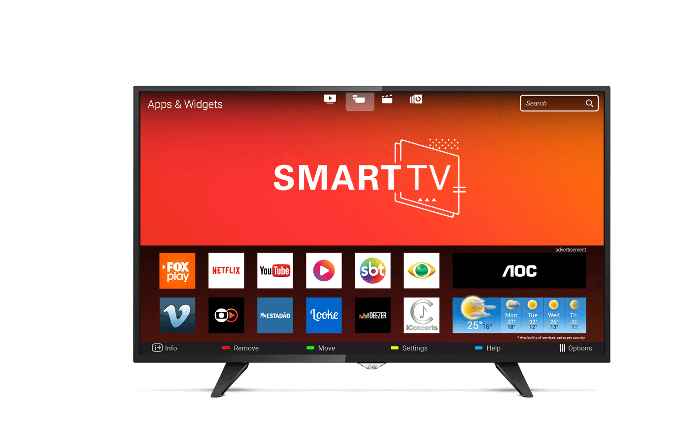 Smart TV LED 43 AOC Série 5000 Full HD LE43S5970 3 HDMI com WIFI